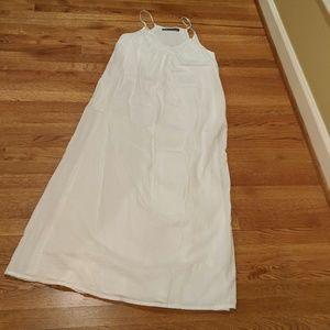 Zara white long casual dress